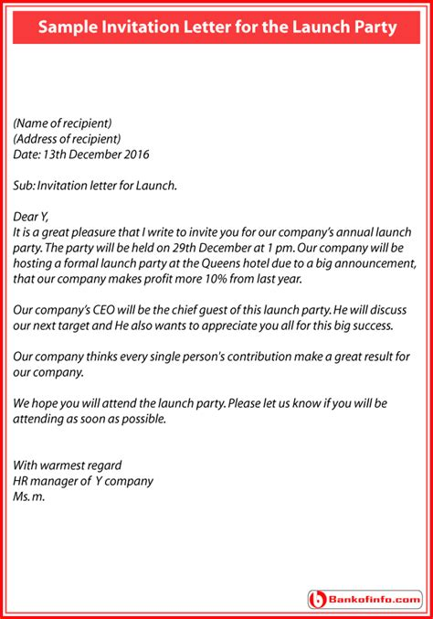 How To Write Invitation Letter For Annual Dinner